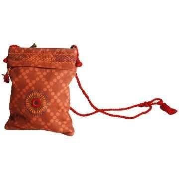 Embroidered Sling Bag Lambani Brown 01