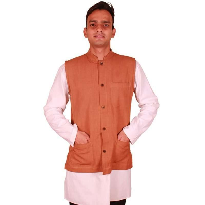 Ethnic Brown Handloom Jacket EBHJ-01