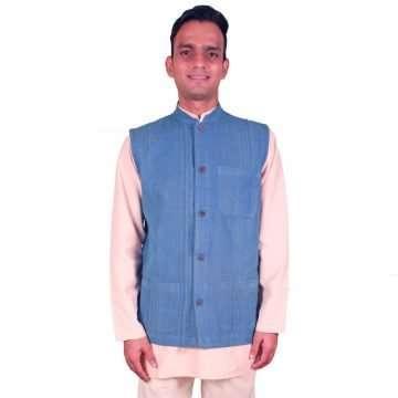 Blue Denim Handloom Jacket DBHJ-01