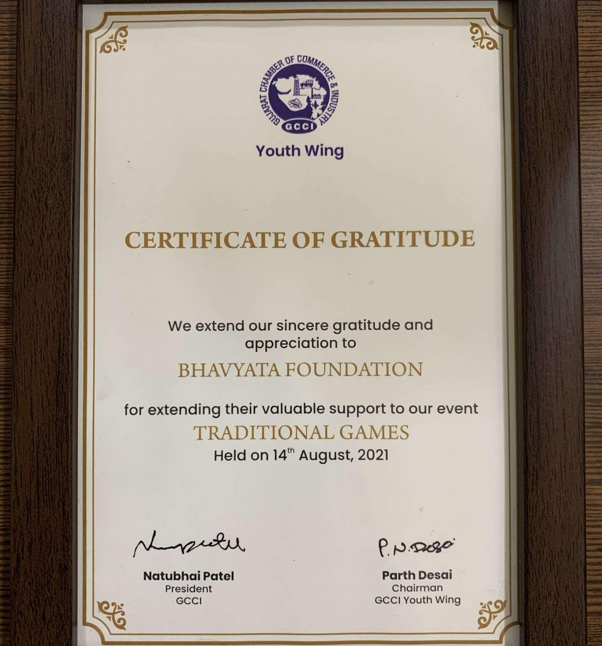 Bridge For Artisans Event Certificate Bhavyata Foundation