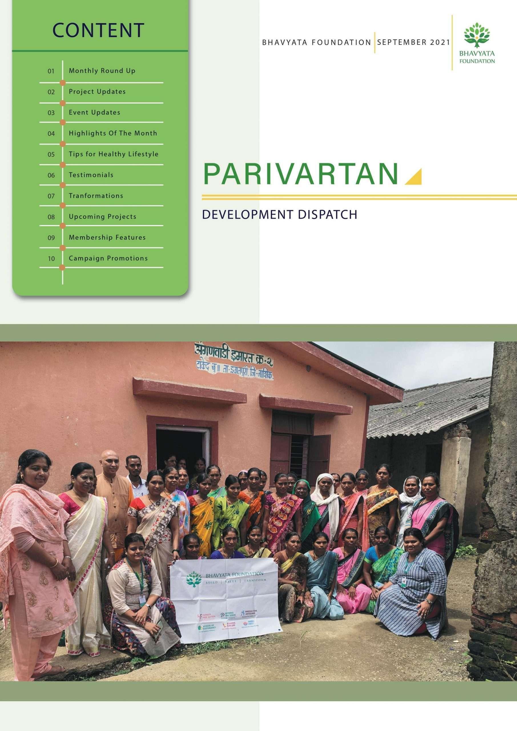 Sep Newslettter 2021 Bhavyata Foundation